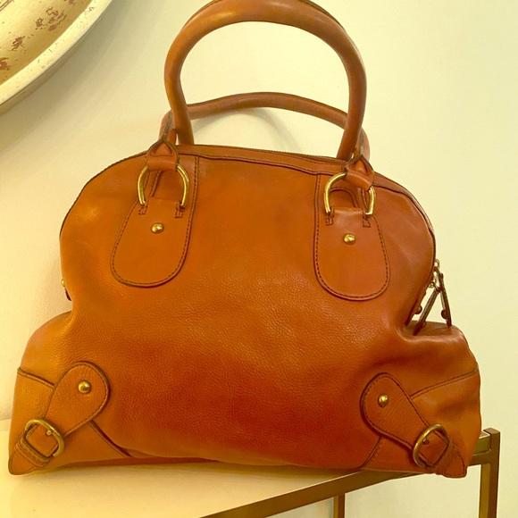 Banana Republic caramel leather hand bag
